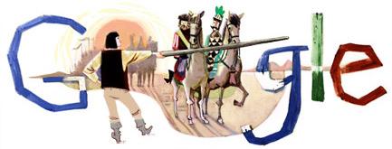 Google Logo: János Arany's 195th birthday - Hungarian poet