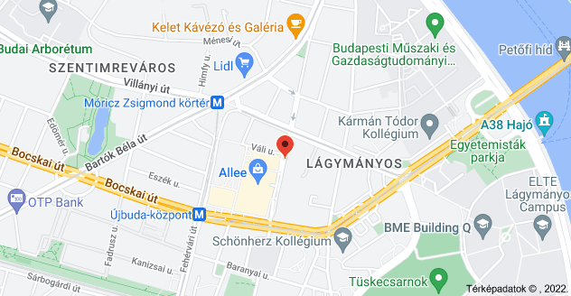 Budapest, Bercsényi u. 24, 1117 térképe