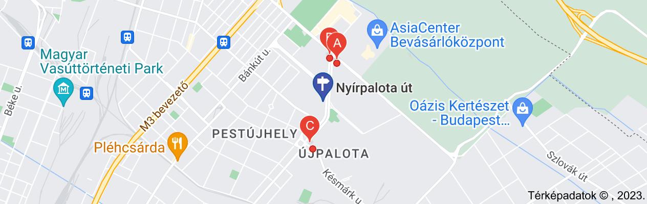 nyírpalota út buszvégállomás térképe