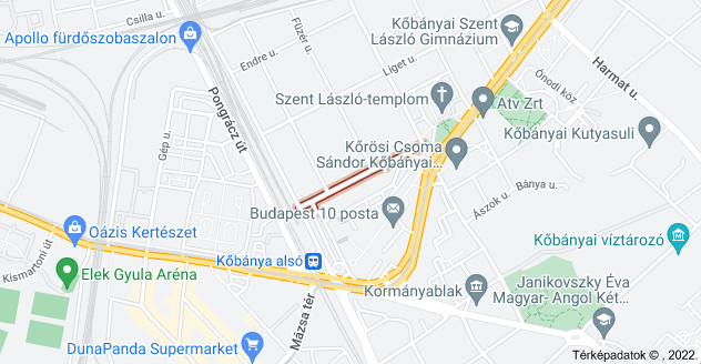 Budapest, Állomás u., 1102 térképe